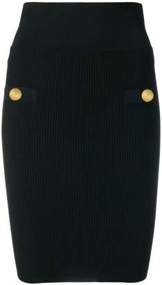 Balmain knitted pencil skirt