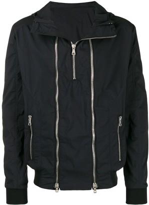 Balmain zip embellished hooded jacket