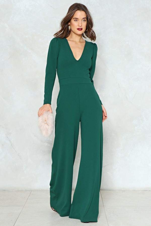 nastygal The Jump Off Wide-Leg Jumpsuit