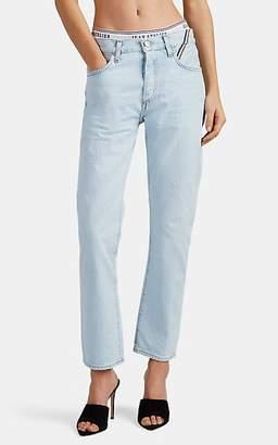 Atelier Jean Women's Brief-Inset Straight Jeans - Blue