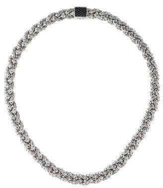 John Hardy Black Sapphire Braided Chain Necklace
