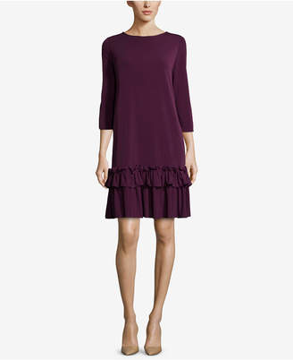 ECI Ruffle-Hem Shift Dress