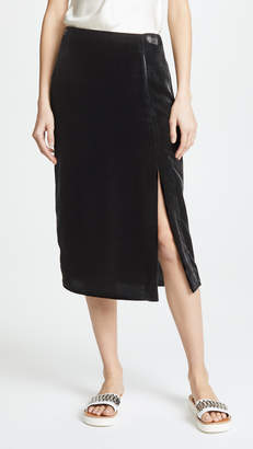 Jason Wu Grey x Diane Kruger Velvet Pencil Skirt