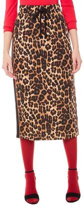 Juicy Couture Jxjc Leopard Tricot Midi Skirt