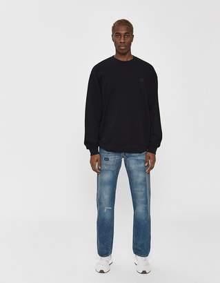 Acne Studios Forba Face Crewneck Sweatshirt in Black