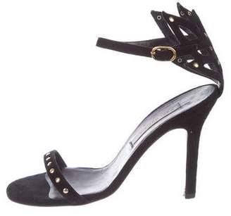 Kaki Daniels Suede Ankle Strap Sandals