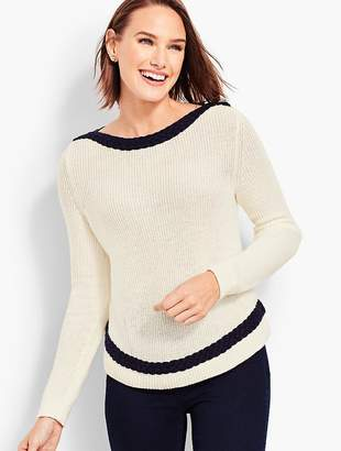 Talbots Braid-Trim Sweater
