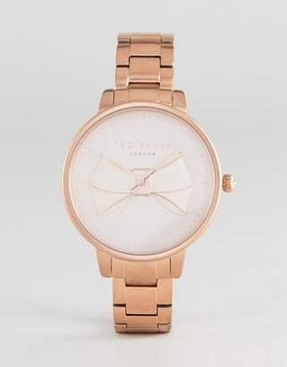 Ted Baker Brook Bow Bracelet Watch In Gold