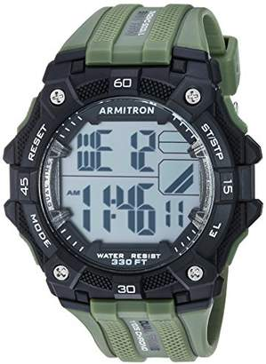 Armitron Sport Men's 40/8403BGN Digital Chronograph Military Green Textured Resin Strap Watch