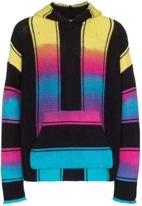 Amiri Baja tie-dye stripe hooded cashmere blend jumper