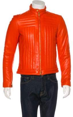 Gucci 2000 Zip-Accented Leather Jacket
