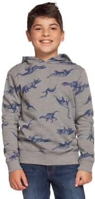 Dex Boy's Dino-Print Cotton-Blend Hoodie
