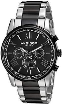 Akribos XXIV Men's AK904TTB Two-Tone Multi-Function Bracelet Watch