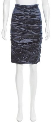 Nicole Miller Metal Ruched Skirt w/ Tags $95 thestylecure.com