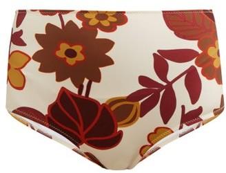 Dodo Bar Or Ceccile High Rise Floral Print Bikini Briefs - Womens - Cream Print