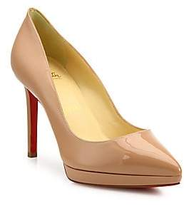 Christian Louboutin Women's Pigalle 100 Patent Leather Platform Pumps