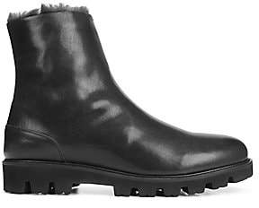 Vince Men's Counter Leather& Shearling Ankle Boots