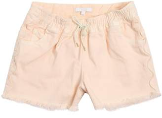Chloé Raw Cut Stretch Cotton Denim Shorts