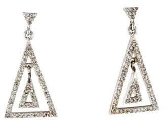 14K Diamond Triangle Drop Earrings