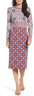 Women's Maggy London Medallion Midi Dress $128 thestylecure.com
