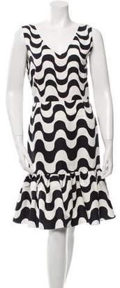 Clements Ribeiro Printed Knee-Length Dress