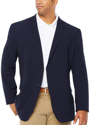Jf J.Ferrar JF Navy Searsucker Big and Tall Sport Coat