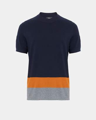 Theory Wool Colorblocked Sweater