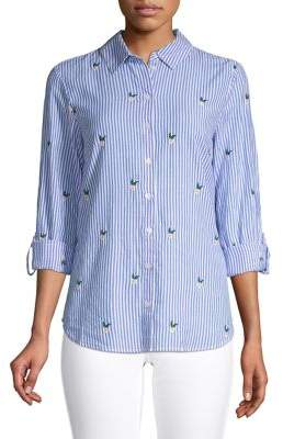 Dorothy Perkins Striped Cotton Button-Down Shirt