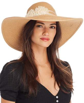 733cf154 August Hat Company Floral-Trim Floppy Hat