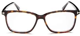Tom Ford Square Blue Blocker Glasses, 55mm