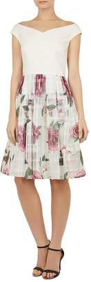Ted Baker Licious Magnificent-Print Off-the-Shoulder Dress