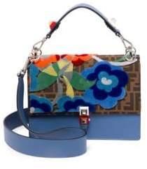 Fendi Kan I Tapestry Logo Shoulder Bag