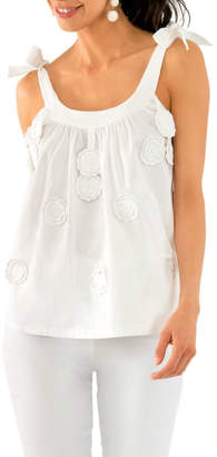 Gretchen Scott Girly Girl - Cotton Embroidered Top