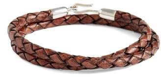 Co Caputo & Braided Leather Wrap Bracelet