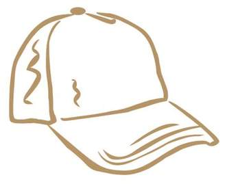 Omega Products Corporation Baseball Cap Vinyl Graphic - Large - Latte