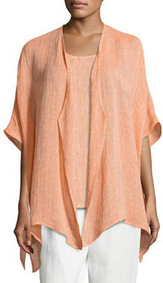 Caroline Rose Gauze Easy-Fit Cardigan