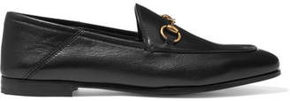 Gucci Brixton Horsebit-detailed Leather Collapsible-heel Loafers - Black