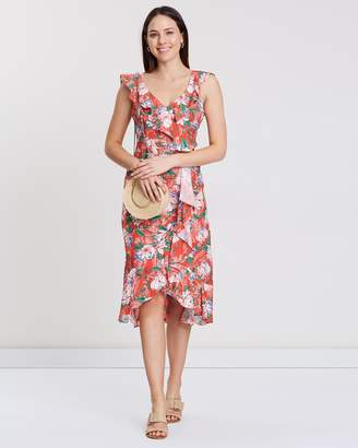 Dorothy Perkins Floral Ruffle Midi Dress