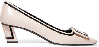 Roger Vivier Belle Vivier Patent-leather Pumps - White