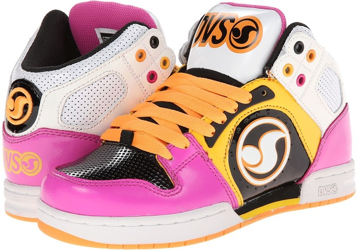 DVS Shoe Company Aces High W (White/Pink Action Leather) - Footwear