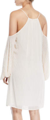 Zac Posen Marianne Cold-Shoulder Beaded Dress