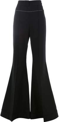 Vera Wang contrast stitch flared trousers