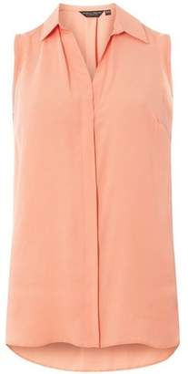Dorothy Perkins Womens Coral Sleeveless Shirt
