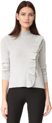 Rebecca Taylor Diagonal Ruffle Sweater $350 thestylecure.com
