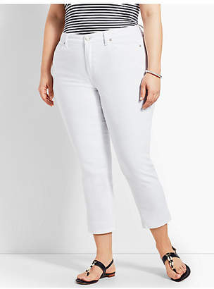 Talbots Womans Exclusive Denim Straight Leg Crop - White