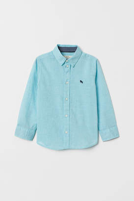 H&M Cotton Shirt - Turquoise