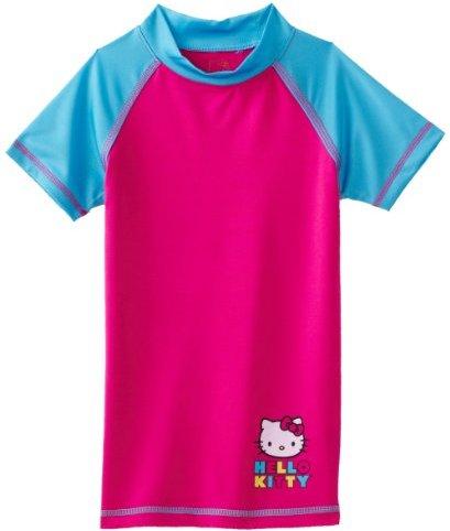 Hello Kitty Girls 7-16 Short Sleeve Rashguard Shirt