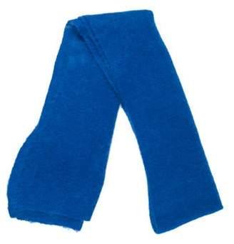 Diane von Furstenberg Embroidered Knit Scarf blue Embroidered Knit Scarf