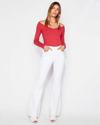 Express One Eleven Modern Rib Off The Shoulder Tee