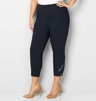 Avenue Plus Size Embellished Hem Ankle Pant